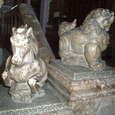 築地本願寺の馬と獅子