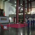 写真33 国父紀念館内、孫文銅像前の儀仗兵